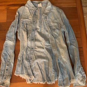 True Religion Jean Shirt Size M